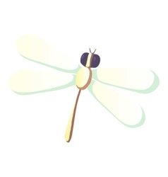 Dragonfly icon cartoon style vector