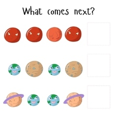 Educational game for children what comes next vector image vector image