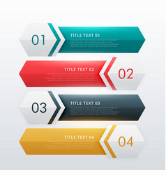 Four steps modern infographic design template vector