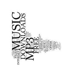 Free mp music downloads text background word vector