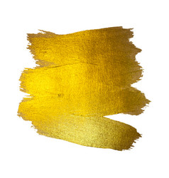 gold watercolor texture paint stain abstract vector image