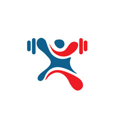 human figure fitness logo vector image