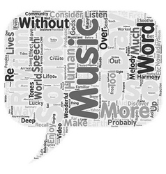 Music an enjoyable necessity text background vector