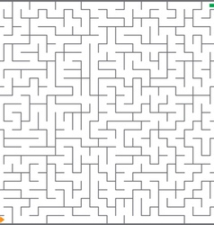 of maze vector image vector image