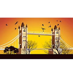 Old British Bridge vector image vector image