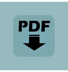 Pale blue pdf download icon vector