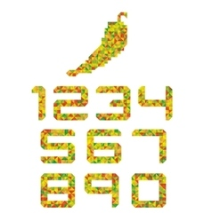 Peper-colored number set vector