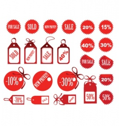 retail labels vector image vector image