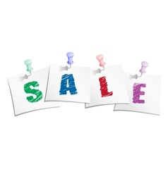Sale text vector image vector image