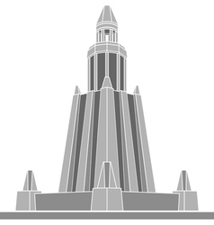 stencil of alexandria lighthouse vector image