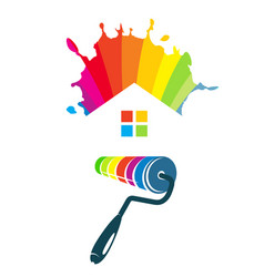 Symbol for painting houses vector