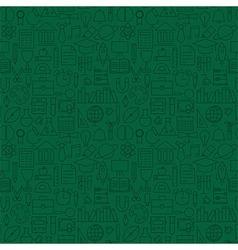 Thin Line School Education Green Seamless Pattern vector image