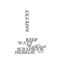 Ways to keep your scrapbook safe text word cloud vector