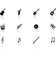 Musical icons vector