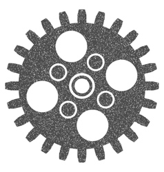 Cogwheel grainy texture icon vector