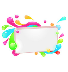 modern funky colorful sign vector image