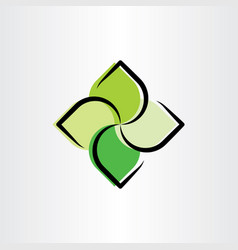 Eco green leaves logo symbol vector