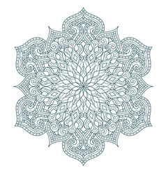 Round mandala pattern with hand-drawn elements vector