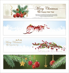 Merry christmas banner set vector