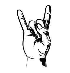 rocker hand vector image