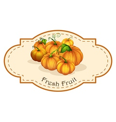 A fresh fruit label with squash vector