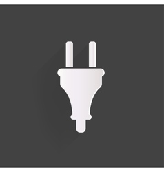 Electric plug icon fork symbol vector