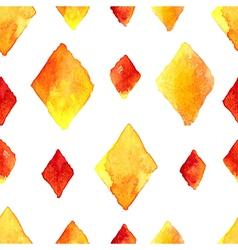 Watercolor rhombus seamless pattern vector image