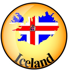 Button iceland vector