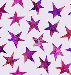 Watercolor seamless pattern with stars isolated on vector image