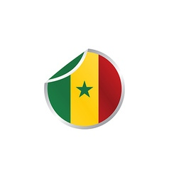 Glossy theme senegal national flag vector