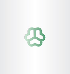 Abstract green heart circle business logo vector