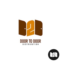 Door to door distribution logo concept silhouette vector