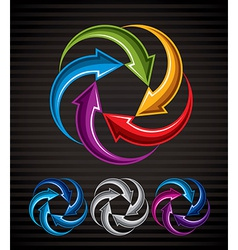 Abstract arrows symbol graphic design template v vector