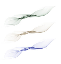 abstract smooth color wave set on vector image