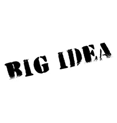 Big Idea rubber stamp vector image vector image