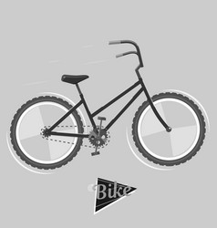 Black and white bike cycling concept bicycle vector