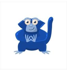Blue monkey sitting vector