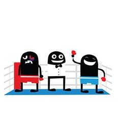 Boxing match cartoon vector