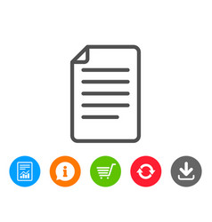 Document management line icon file sign vector