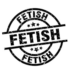 Fetish round grunge black stamp vector