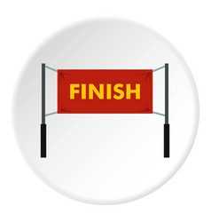 finish line icon circle vector image