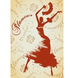 Flamenco girl vector