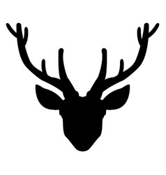 Head deer the black color icon vector