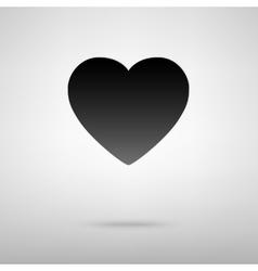 Heart black icon vector image