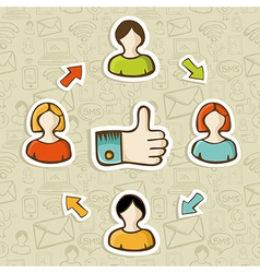 I Like it social media concept vector image vector image