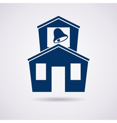 icon of school vector image vector image