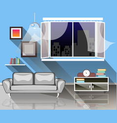 interior of a living room vector image vector image