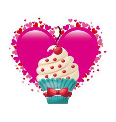 Love postcard sweet dessert vector