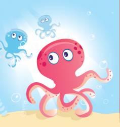ocean octopus vector image vector image