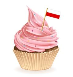 Polish cupcake vector